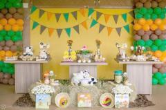 aniverssário-infantil-decoração-tema-festa-fazendinha-19 Idéias para festa Infantil com tema Fazendinha para meninos e meninas