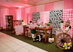 aniverssário-infantil-decoração-tema-festa-fazendinha-menina-01 Idéias para festa Infantil com tema Fazendinha para meninos e meninas