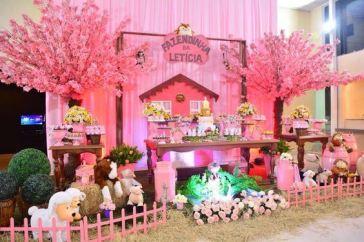 aniverssário-infantil-decoração-tema-festa-fazendinha-menina-03 Idéias para festa Infantil com tema Fazendinha para meninos e meninas