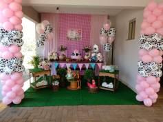 aniverssário-infantil-decoração-tema-festa-fazendinha-menina-08 Idéias para festa Infantil com tema Fazendinha para meninos e meninas