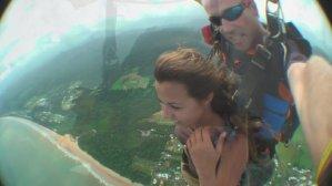 Saltando de paraquedas em Cairns