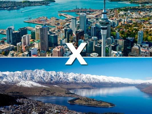 Nova Zelândia: Auckland x Queenstown
