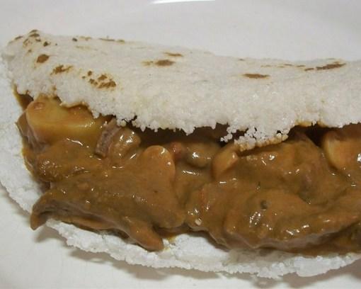 Tapioca Strogonoff de Carne