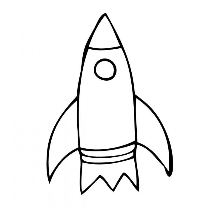 Ракета картинка для срисовки