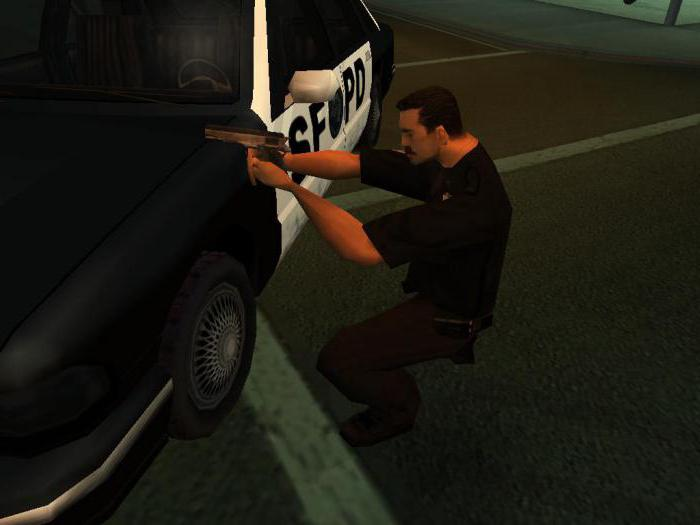 gta san andreas how to become a police code