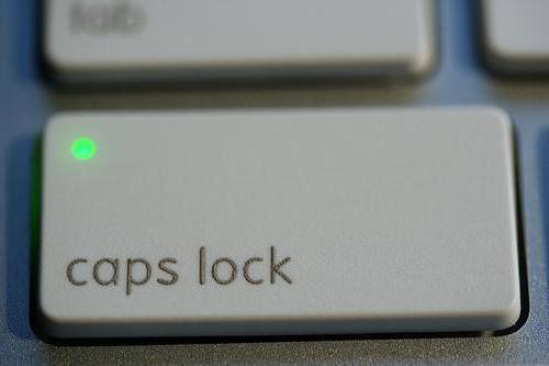 как отключить капс