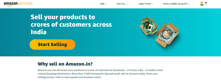 start selling on Amazon india