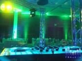 Iluminación pista de baile, perimetral, estructura truss.