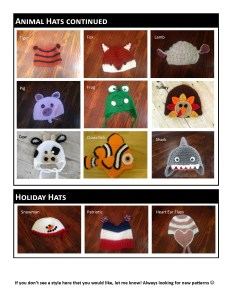 Animal Hats & Holiday Hats
