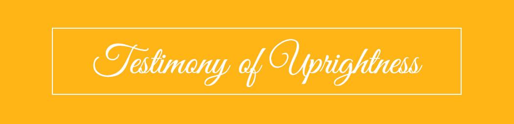 testimony of uprightness header image