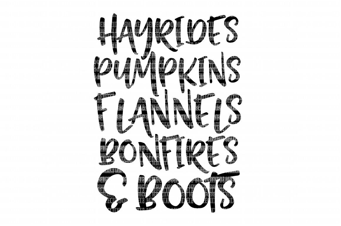 Fall Things Hayrides Pumpkins Flannels And Boots Iron On
