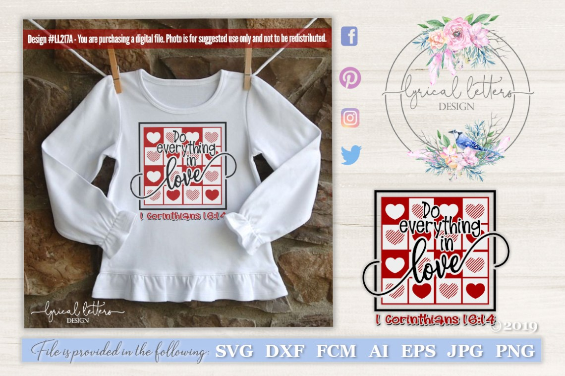 Download Do Everything In Love SVG DXF FCM LL217A