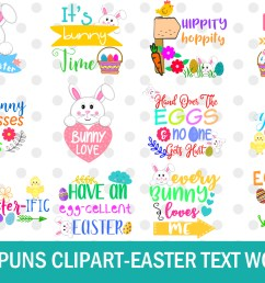 easter word art clipart easter puns easter graphics clipart example image 1 [ 1500 x 1000 Pixel ]