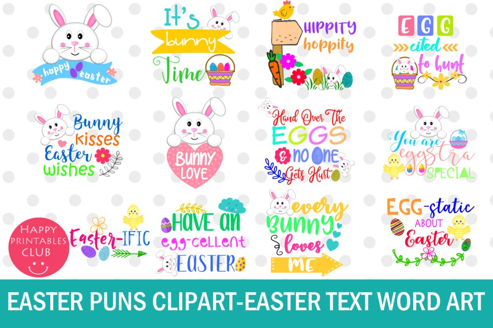 medium resolution of easter word art clipart easter puns easter graphics clipart example image 1