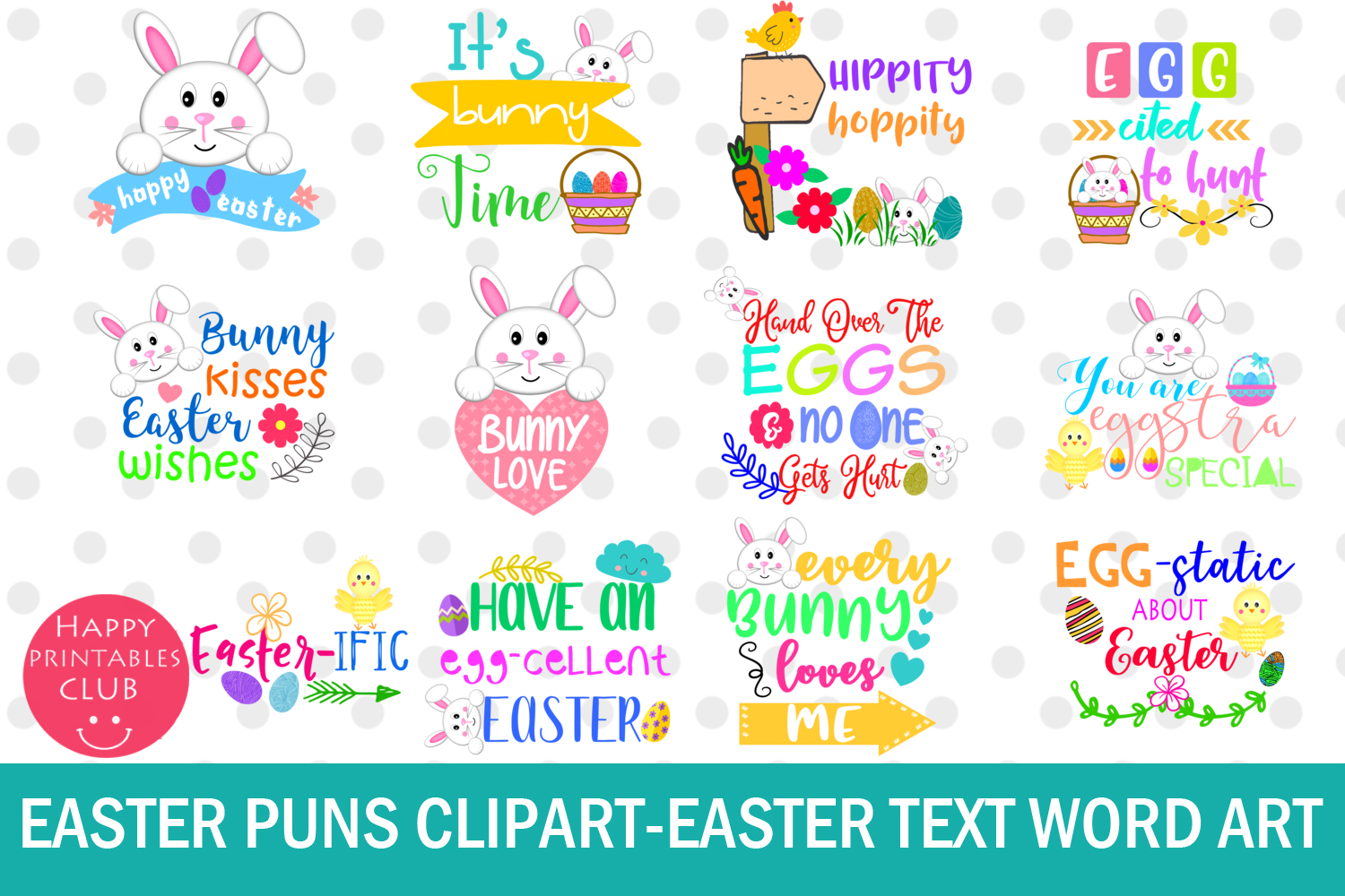 hight resolution of easter word art clipart easter puns easter graphics clipart example image 1