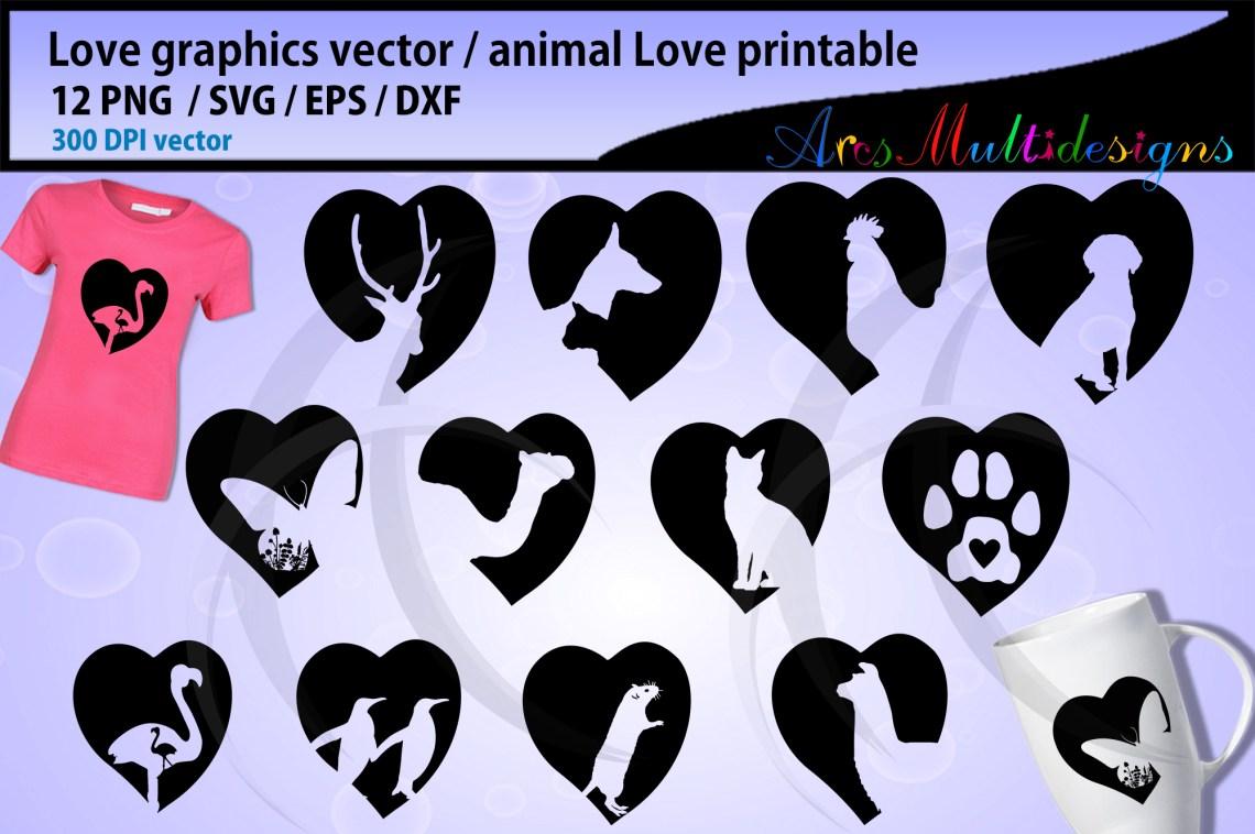 Download Love animal SVG / deer love svg / cat love svg / dog love ...