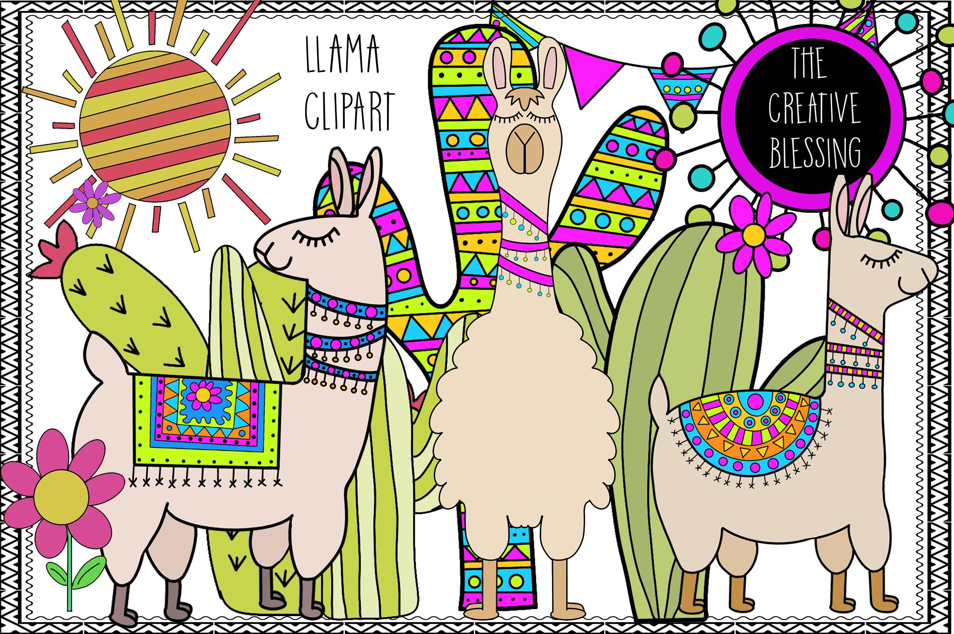 hight resolution of hand drawn llama clipart example image 1