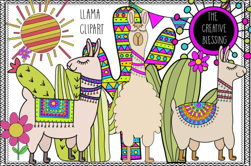 small resolution of hand drawn llama clipart example image 1