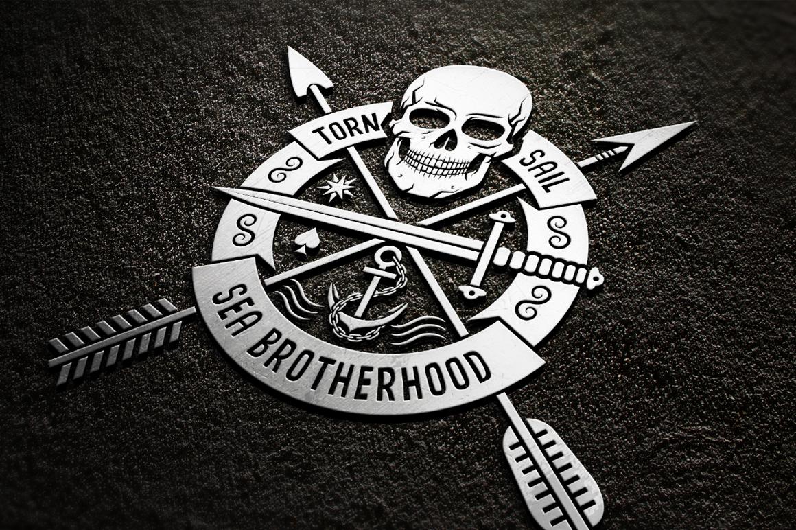 skull logo set on