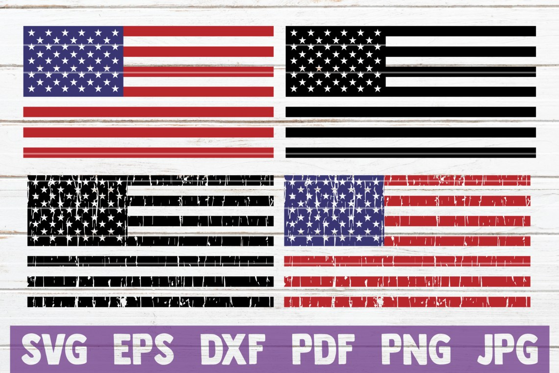 Download 6 Distressed American Flags SVG Cut Files | commercial use ...