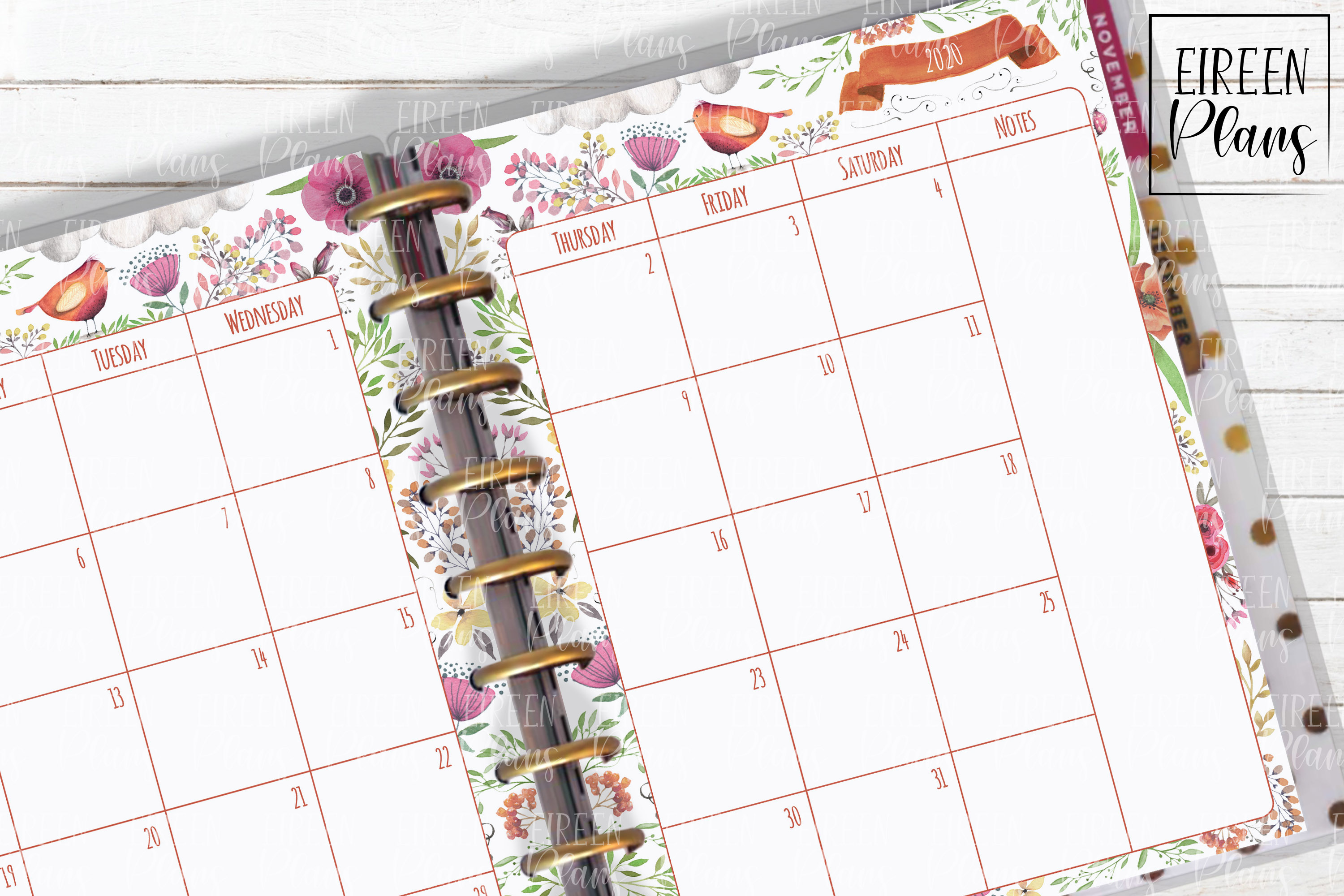 Monthly Printable Insert For Classic Happy Planner