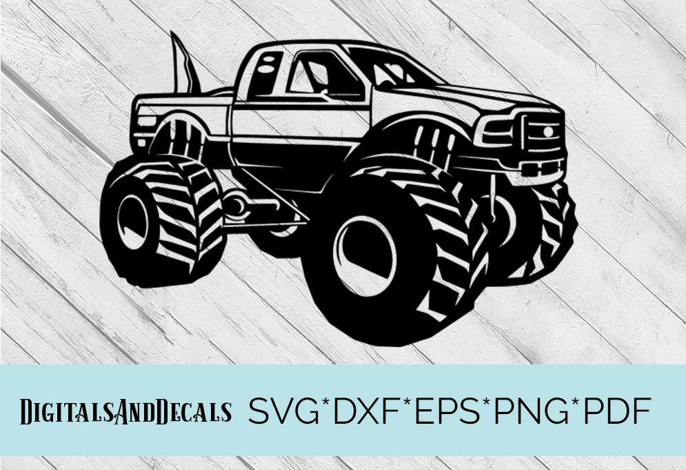 Download Big Foot Monster Truck SVG Cutting File (58151) | SVGs ...