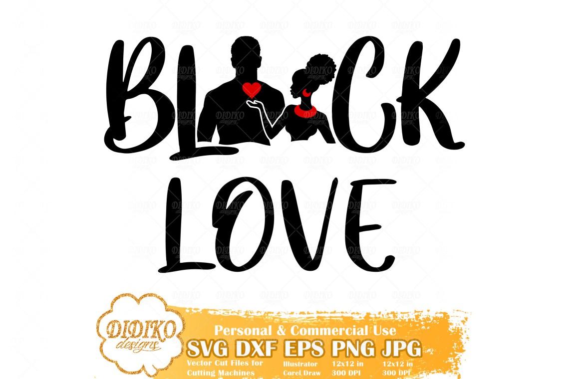 Download Black Love SVG, Valentine, Black Couple SVG, Afro Woman ...