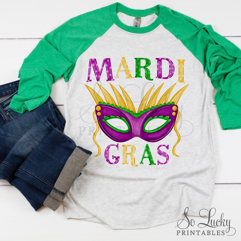 Mardi Gras Mask Painted Printable Sublimation Design