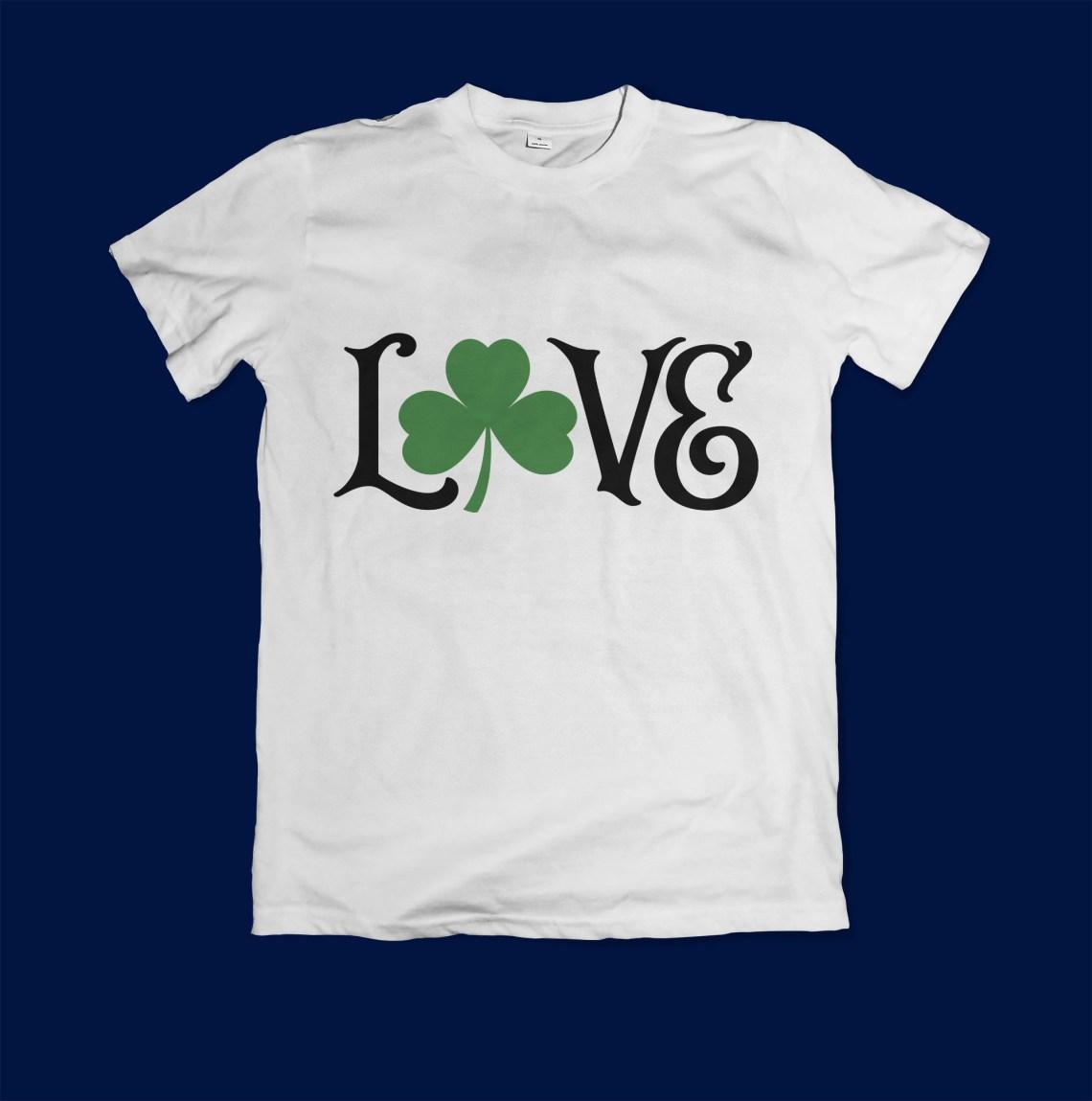 Download Love Shamrock SVG Cut File (59893) | Cut Files | Design ...