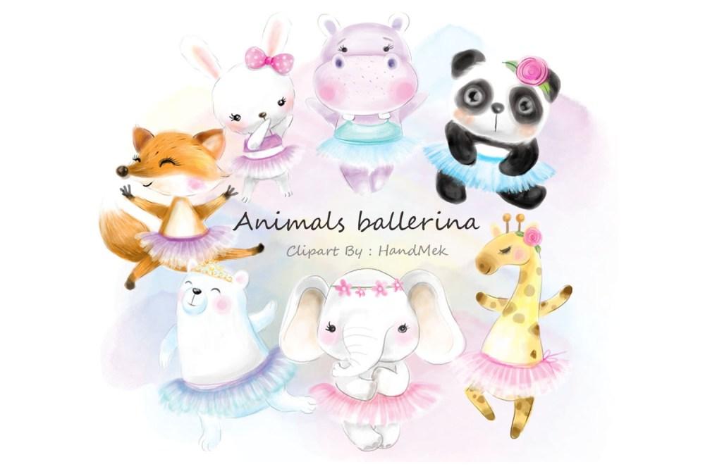 medium resolution of cute animals ballerina clipart example image 1