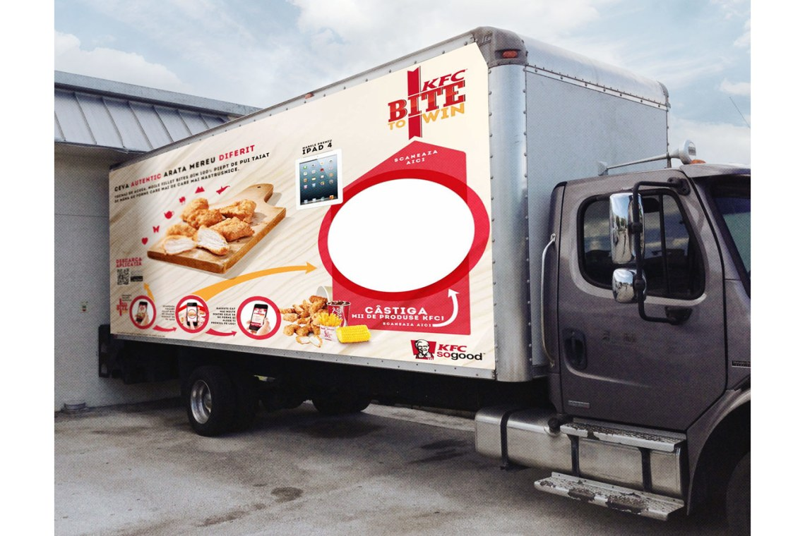 Download Realistic Box Truck Mockup Template