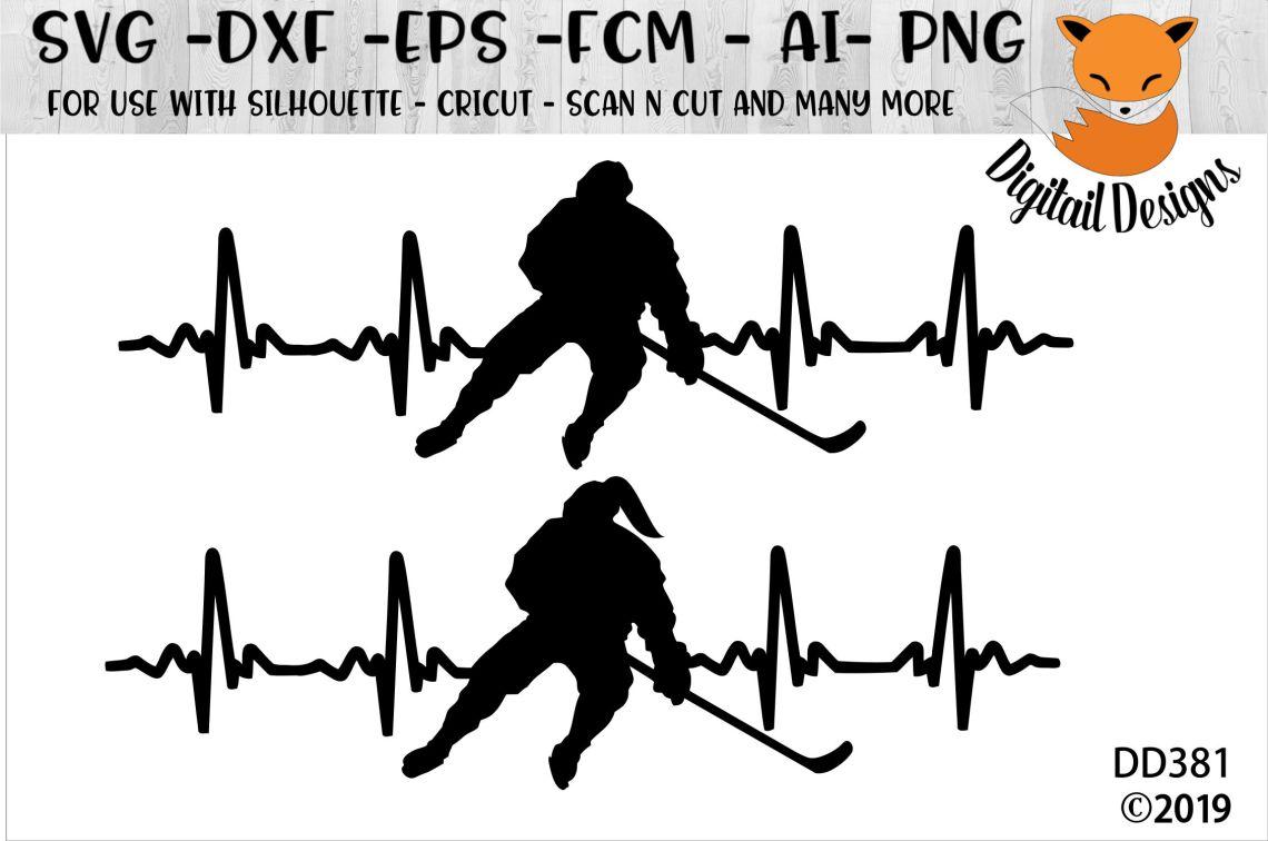 Download Love Hockey EKG Heartbeat SVG