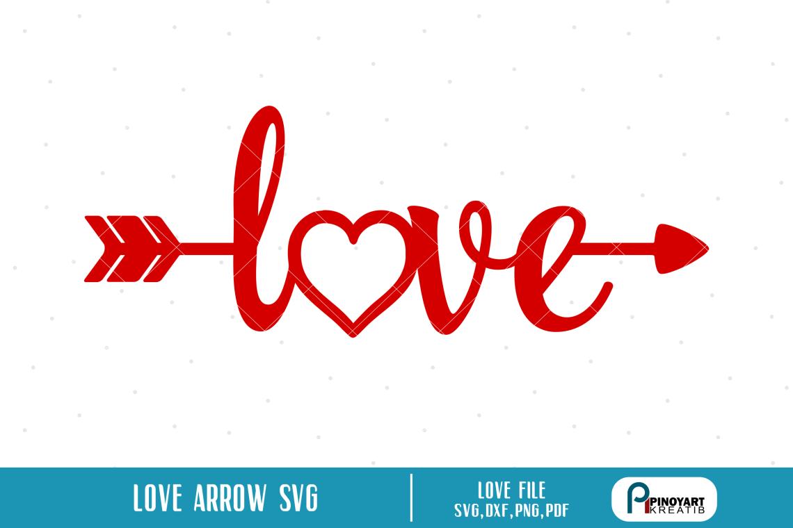Download Love Arrow svg - a valentine arrow vector file