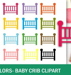 40 colors baby crib clipart example image 2 [ 1500 x 1000 Pixel ]