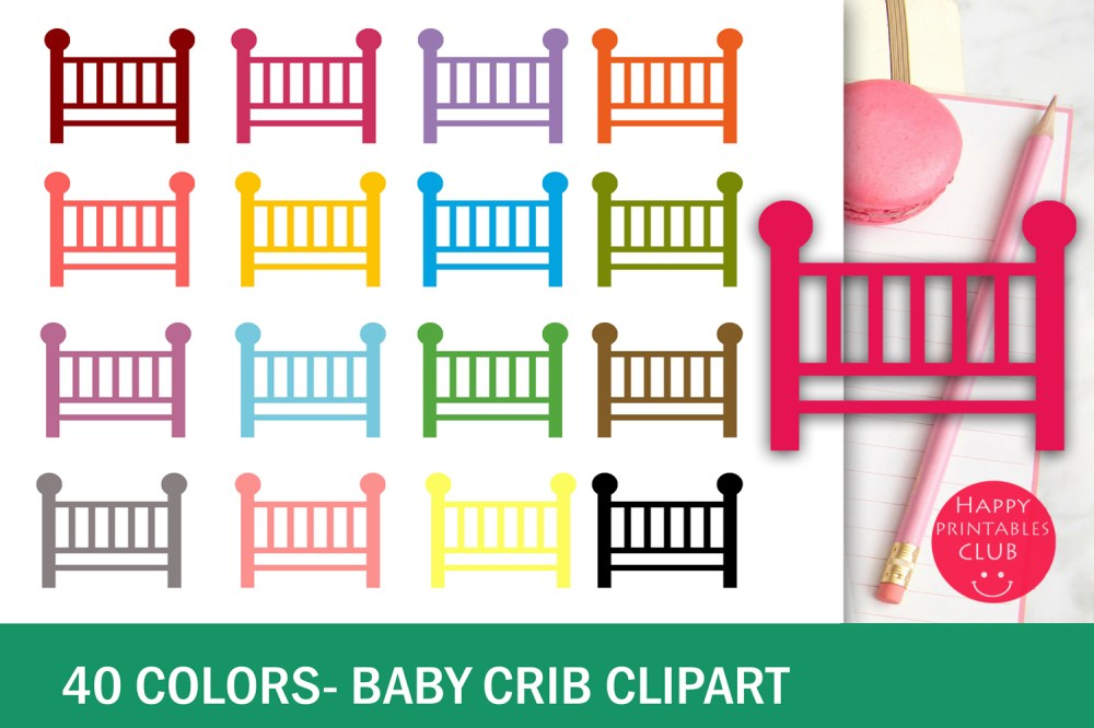 medium resolution of 40 colors baby crib clipart example image 2