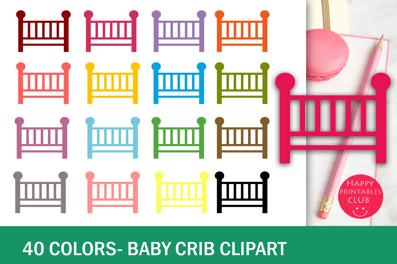 hight resolution of 40 colors baby crib clipart example image 2