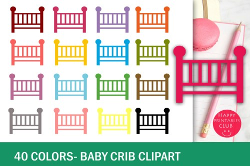 small resolution of 40 colors baby crib clipart example image 2