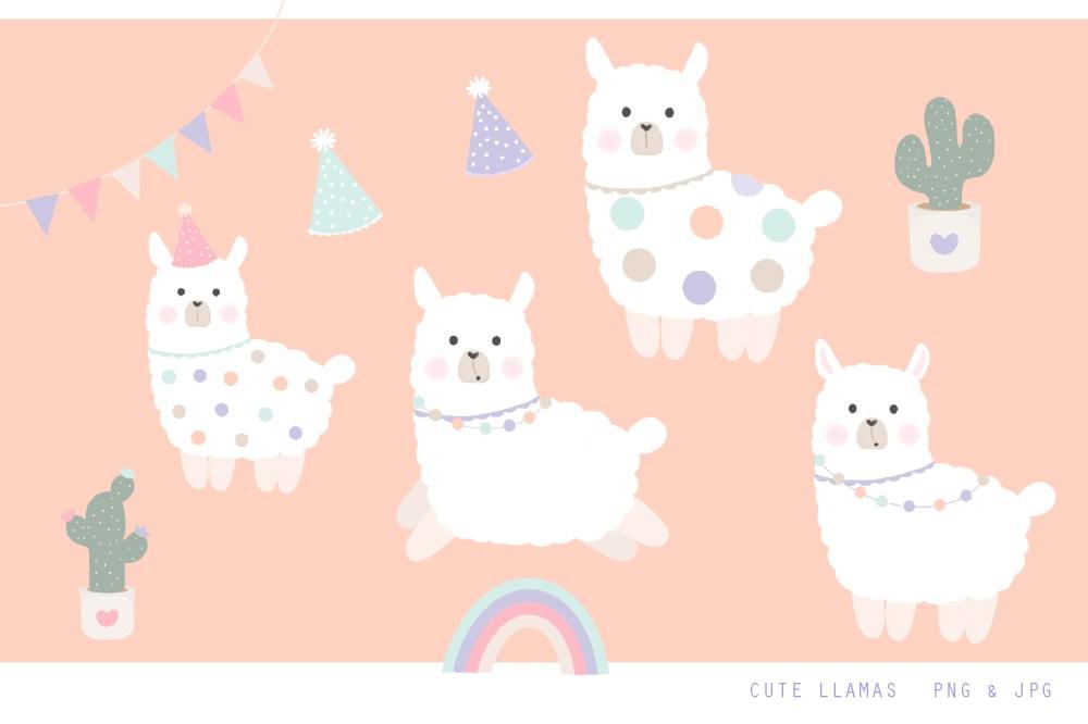medium resolution of cute llama clipart jpg png 300 dpi illustrations example image 1