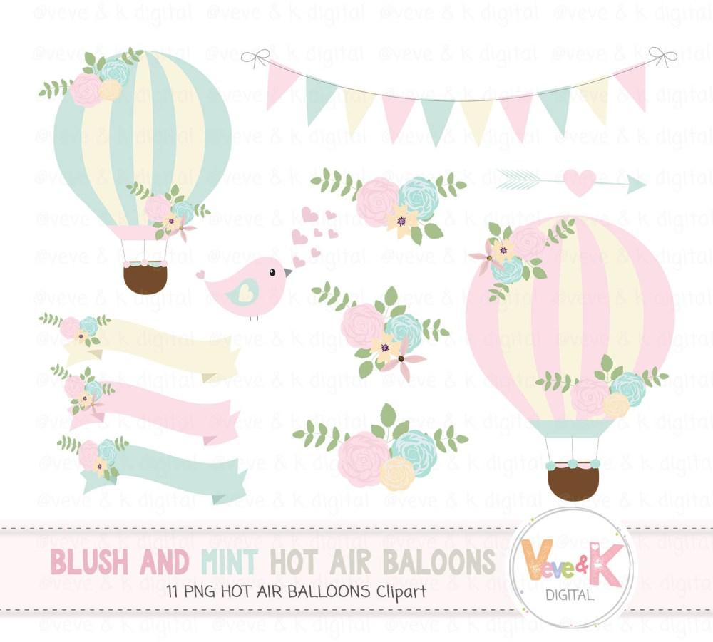 medium resolution of hot air balloons clipart blush and mint hot air balloon clipart wedding invitations clipart
