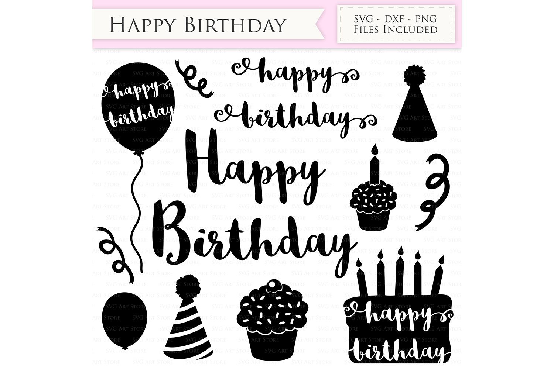 Happy Birthday Svg Files Birthday Hat Party Balloon