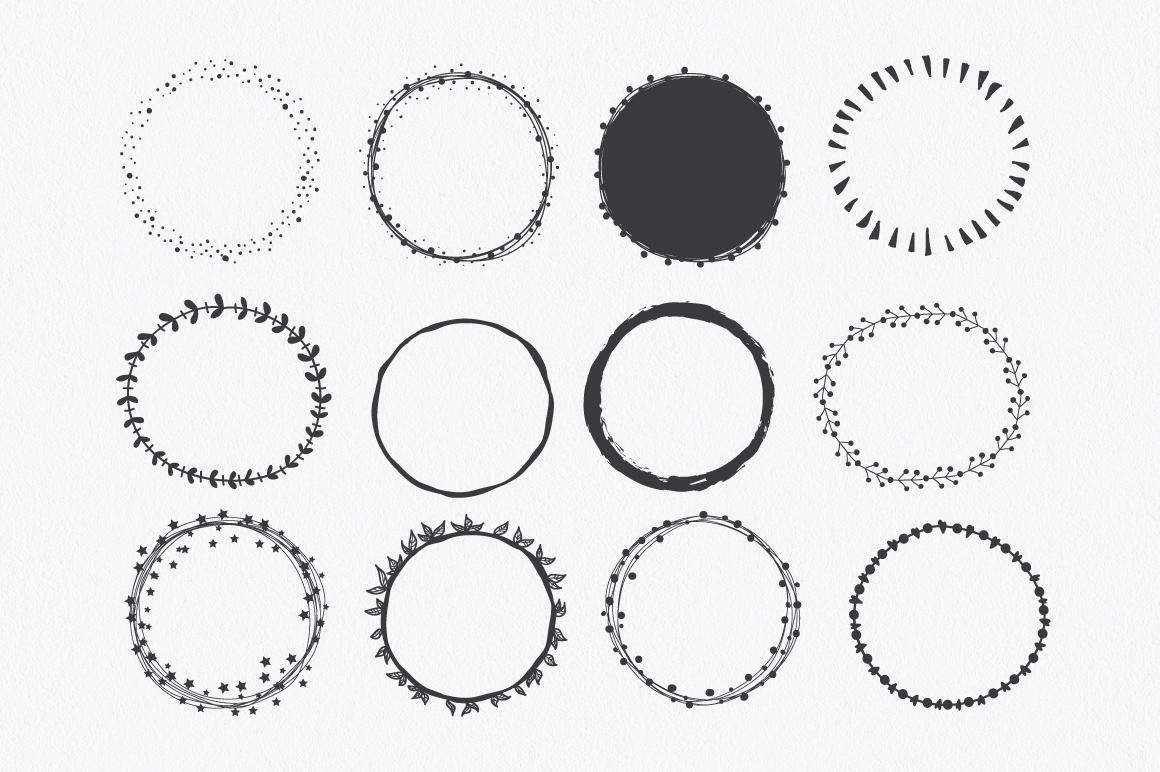 hand drawn circle shapes