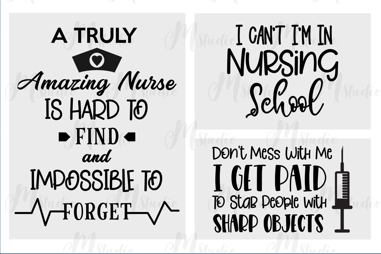 Nurse quotes svg bundle