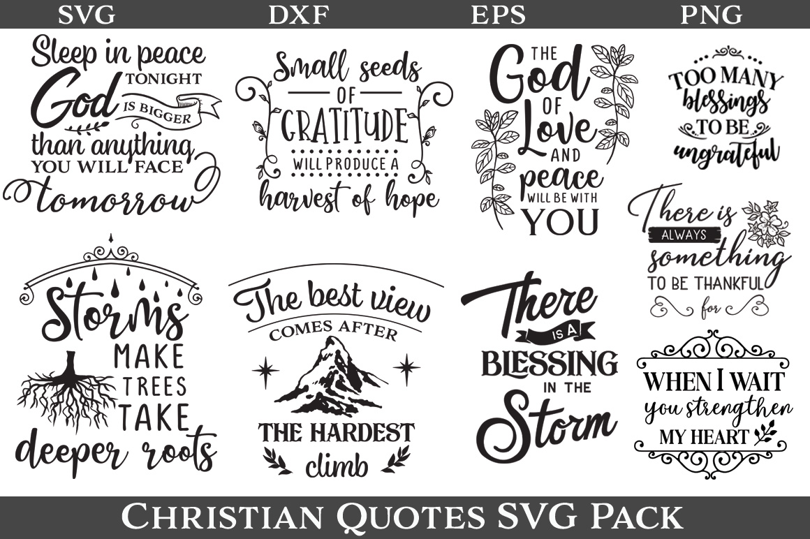 48 Christian Quotes SVG Pack