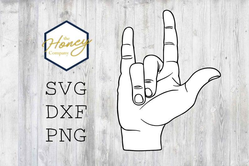 Download ASL Love Sign Language SVG DXF PNG Cut File Cutting Machine