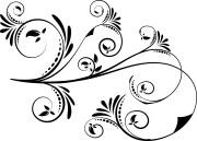 5 swirl vectors svg dxf
