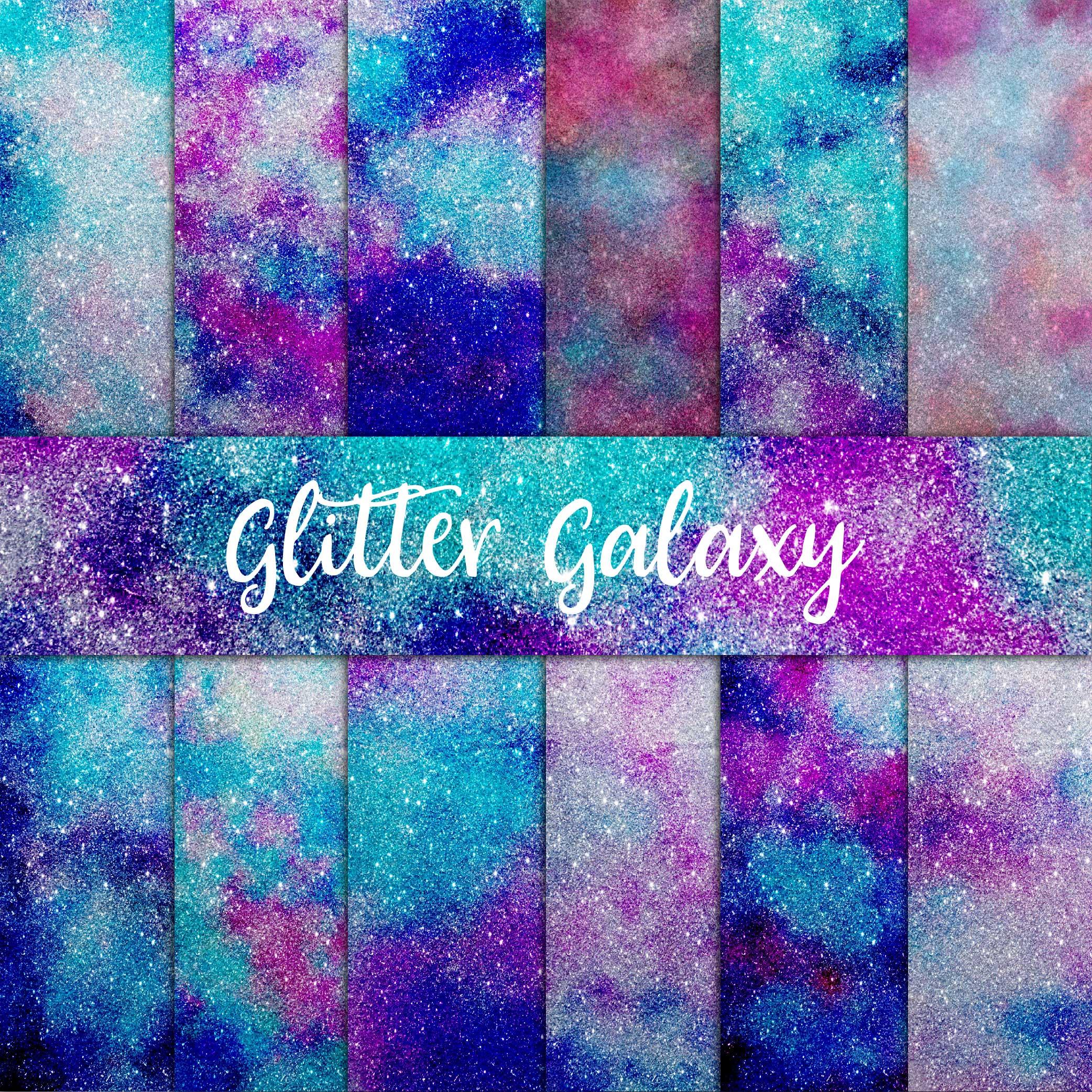 Galaxy Glitter Digital Paper