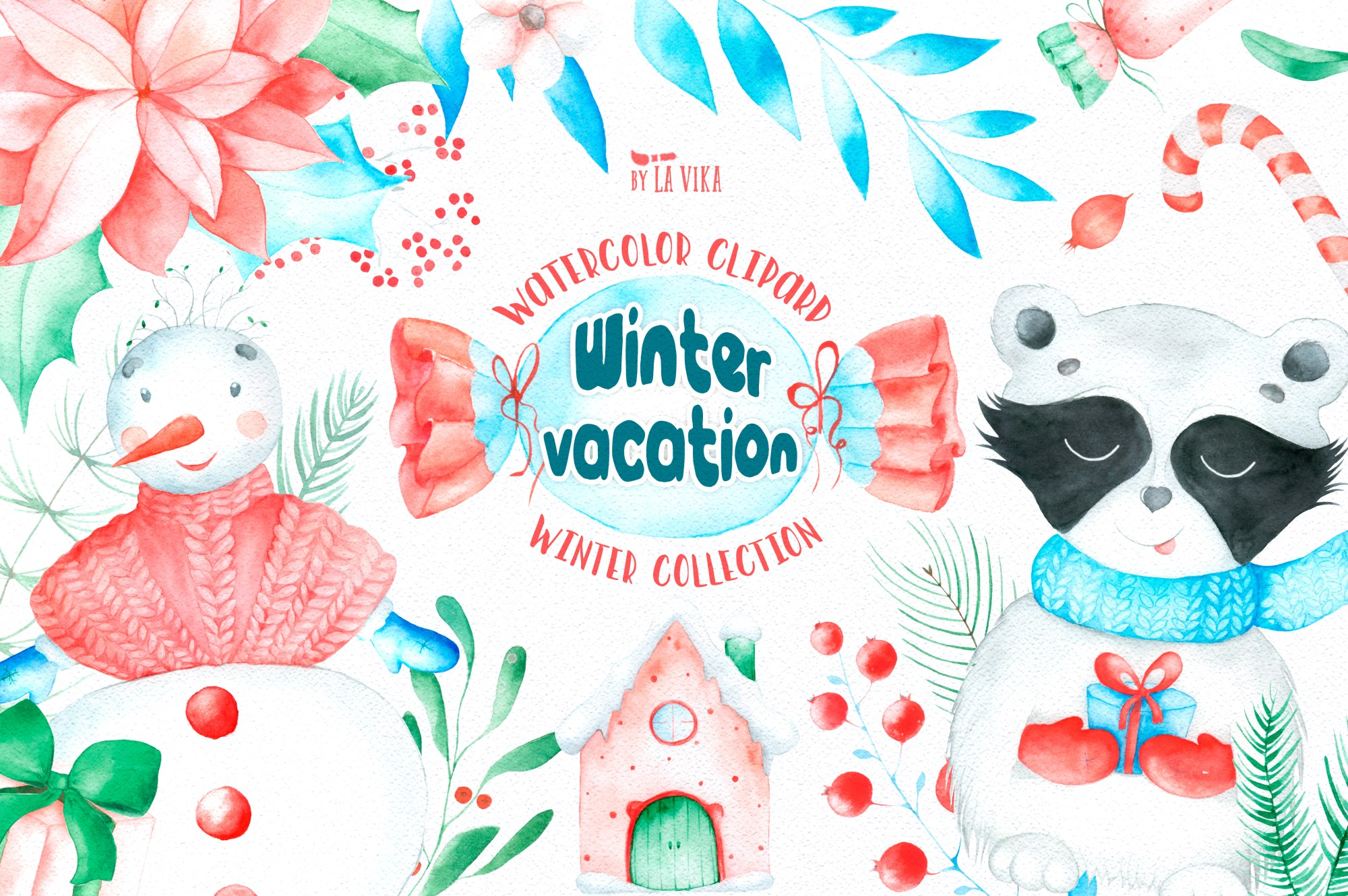 hight resolution of watercolor winter clipart winter vacation example image 1