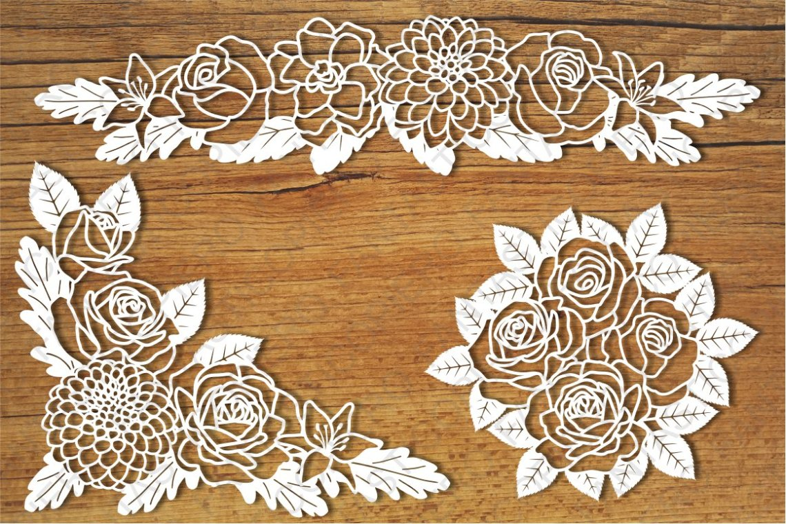 Download Floral Decorations 1 SVG files for Silhouette and Cricut.