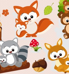 woodland animal clipart woodland animal graphics example image 1 [ 3125 x 2083 Pixel ]