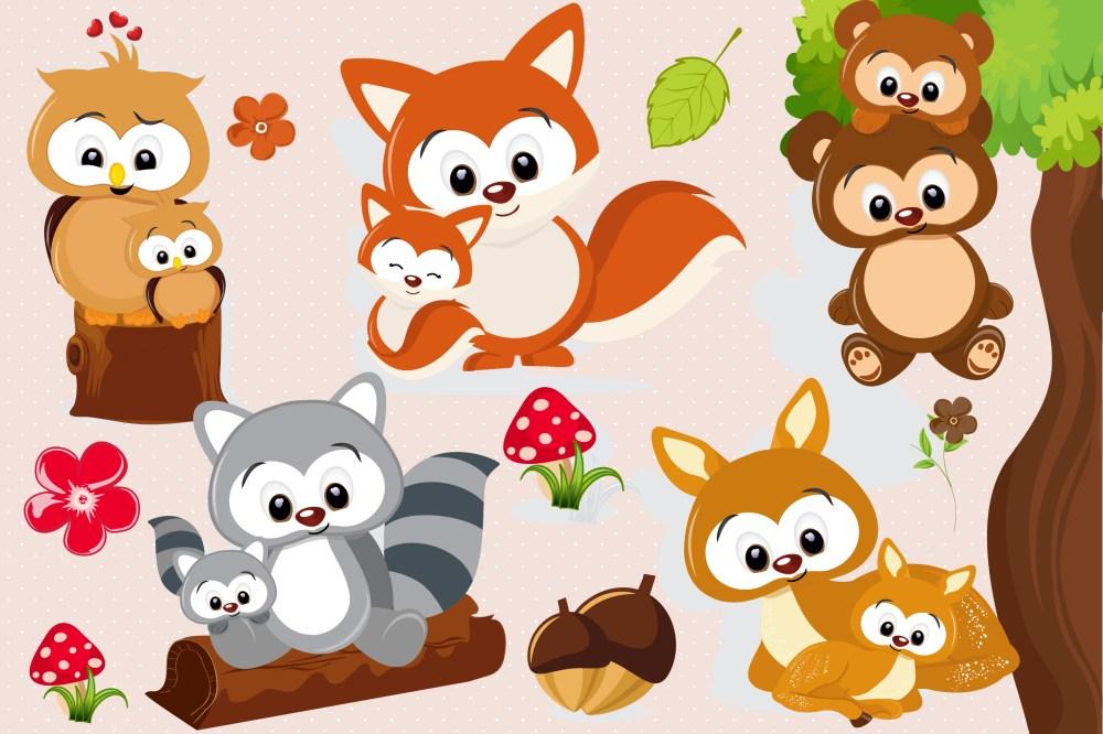medium resolution of woodland animal clipart woodland animal graphics example image 1
